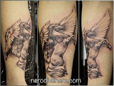 #tattoo #horse #wing #selfie #tattooist #illustration #artwork #sketch #ink #artist #watercolor #trashpolka #tattooidea #drawing #inkmaster #tattooartist