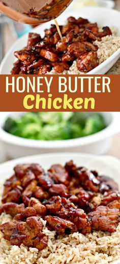 Honey Butter Chicken (Easy Skillet Meal) This savory and sweet chicken is an easy-to-make family favorite! Honey Butter Chicken, Bourbon Chicken, Easy Skillet Meals, Skillet Recipes, Easy Skillet Dinner, Supper Recipes, Easy Healthy Recipes, Healthy Meals, Healthy Suppers
