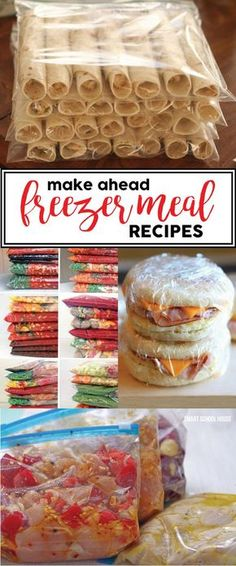 Make Ahead Freezer Meals - homemade recipes and ideas to save time and money. Make these ahead for your family for dinner every night!