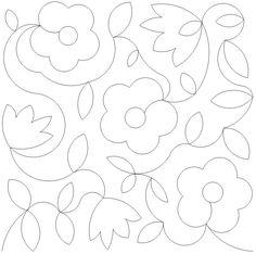 30s flower--long arm quilt stitch