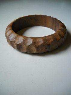 carved wood cuff