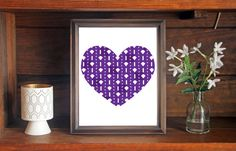 This colorful Kansa State Wildcats heart print is an original pattern, designed…