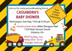 construction baby shower theme