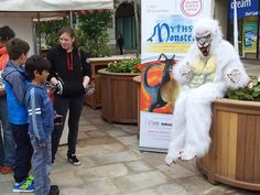 science busking - myths and legends - Yeti costume (Dundee Science Centre)