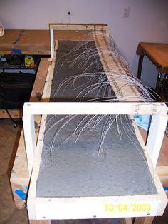 Creating Concrete Countertops: Placing the Fiber Optic Concrete