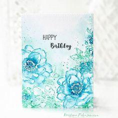 Ой, чуть не забыла выложить открытку для Гали @galachko!!! #galachko_cardcontest Надеюсь еще не поздно!  Хотела ее перефоткать, а потом в итоге этот вариант показался лучше. Как вам такой ослепительно белый цвет? Галя очень любит синий цвет, поэтому цветочки у меня синие) Наконец-то руки дошли до штампов #altenewbeautifulday от @altenewllc, я их прятала  аж с сентября прошлого! Скоро к ним приедут ножички и будет совсем здорово! Завтра покажу еще открытку с этими же штампами:) Все кстати уже…
