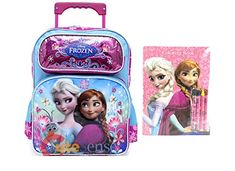 Disney Frozen Elsa & Anna Large 14 Inches Rolling Backpack Plus Coloring Book Frozen Elsa And Anna, Disney Frozen Elsa, Elsa Anna, Frozen Coloring, Coloring Books, Disney Luggage, Advent Calendars For Kids, Rolling Backpack, School Backpacks