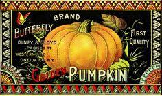Vintage Halloween Clip Art - Pumpkin Label - The Graphics Fairy