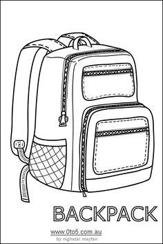 backpack or rucksack printable template Boy Printable, Printable Crafts, Printables, Backpack Craft, Backpack Bags, Arte Gcse, Backpack Drawing, Backpack Decoration, Paper Bag Puppets