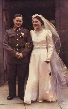 Grandad Stanley and Grandma Joan's Wedding Vintage Wedding Photos, Vintage Bridal, Wedding Pics, Wedding Couples, Wedding Bride, Wedding Styles, Wedding Gowns, Wedding Day, Vintage Weddings