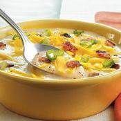 Loaded Potato Soup recipe from Betty Crocker