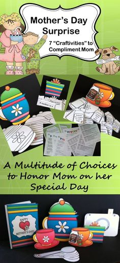 The cutest Mother's Day projects ever! Imagine a teacup with it's teabag serving as a coupon book with loving acts of kindness. Whether you choose to complete one or all these special gifts of love are sure to make every mother proud. Special Education Classroom, Primary Classroom, Art Classroom, Classroom Ideas, Upper Elementary Resources, Primary Resources, Teapot Crafts, Mother's Day Projects, Kodak Moment