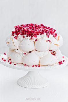 Pavlova meringue cake with grenades                                                                                                                                                                                 More