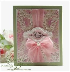 Floral Stitched Cling Background Stamp by JustRite