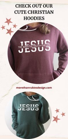 Cute Christian Hoodie! Looking for the softest, most blanket-like hoodie ever? Look no further! Our hoodies are SO COMFORTABLE and PERFECT for fall, winter, or to wear on a chilly summer night. #hoodie #christianhoodie #bellacanvashoodie #christiansweatshirt #christianapparel