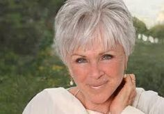 love her gray hair and the cut is cute too. Inspiring woman