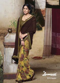 Dressed up to the nine!...this phrase will suit when you wear this fabulous half-half saree.