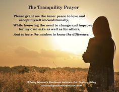 The Tranquility Prayer