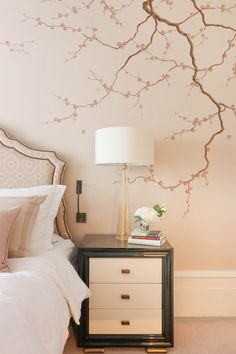 Trendy Cherry Bedroom Furniture Decor Blossom Trees The Effective Pictures We Offer You About bedroom furniture organization A quality picture can tell you many things. Bedroom Murals, Home Decor Bedroom, Bedroom Furniture, Furniture Decor, Modern Bedroom, Tree Bedroom, Cherry Blossom Bedroom, Cherry Blossom Decor, Cherry Blossoms