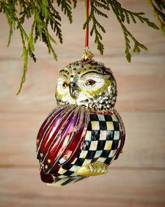 MacKenzie-Childs Regal Owl Christmas Ornament