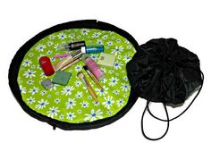 Vanity Travel Tray Bridesmaid Gift Makeup Bag by SwingCoat Travel Tray, Cinch Sack, Cosmetic Pouch, Bag Patterns, Makeup Case, Bridesmaid Gifts, Gym Bag, Vanity, Tutorials