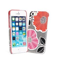 Vera Bradley Glitter Snap On Case for iPhone 5 in Cheery Blossoms  $9.99  $38.00  (54 Available) End Date: Aug 152016 07:59 AM GMT-07:00
