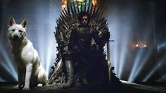 Jon on the throne, Game of Thrones