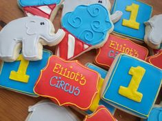 Cotton candy, elephants and circus fun to celebrate a first birthday