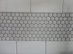 Gray Penny Tile Lovely White Subway Tile Gray Grout Broken Up with Penny Tiles Photograph - Flooring Design ideas White Subway Tile Shower, Subway Tile Showers, Penny Tile Floors, Bathroom Floor Tiles, Bathroom Cabinets, Upstairs Bathrooms, Downstairs Bathroom, Master Bathroom, Boy Bathroom