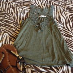 Tank top Olive great tank top from Aeropostale. Size small Aeropostale Tops Tank Tops