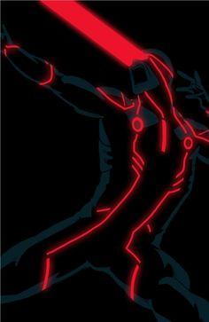 tron superhero cyclpos pic on Design You Trust #design #Illustration #graphicdesign