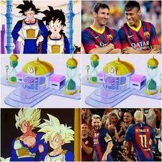 Tak jak Son Goku w bajce Dragon Ball • Lionel Messi i Neymar przemienili się w Super Wojowników • Zobacz śmieszny mem piłkarski >> #neymar #fcbarcelona #barca #barcelona #messi #lionelmessi #football #soccer #sports #pilkanozna #futbol #memes #funny