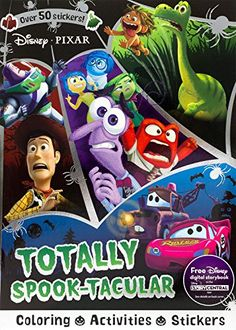 Disney Pixar Totally SpookTacular Sticker Scenes Coloring Book AMAZON BEST BUY