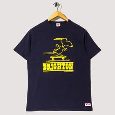 Snoopy Skates Brighton Tee - Navy | TSPTR x Peggs & son. | Peggs & son.