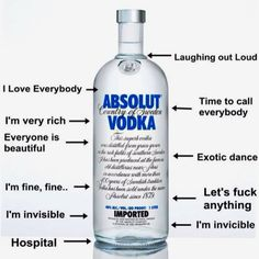Absolute fuck vodka all business