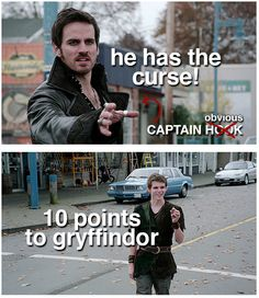 """""""He has the curse !"""" (Captain Obvious !) """"10 points to gryffindor !"""" Killain and Peter Pan"""