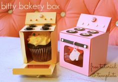 Bitty Bakery Cupcake Box (FREE template!)