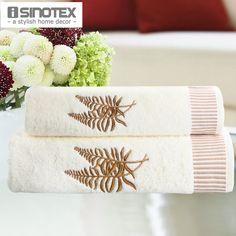 2pcs/lot 100% Cotton Towel Set Face towel(45x90cm)+Bath towel(65x135cm) Embroidery Washclothes Quickly-Dry Face Hand Hair Towel