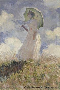 Claude Monet Essai de figure en plein-air : Femme à l'ombrelle tournée vers la gauche en 1886