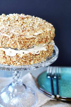 Vegan Hazelnut Carrot Cake! This delicious carrot cake recipe is made with Silk…