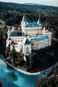 """Bojnice Castle - the """"fairy-tale"""" Bojnický zámok is one of the most visited and most beautiful castles in Slovakia Beautiful Castles, Beautiful Buildings, Beautiful Landscapes, Beautiful World, Beautiful Places, Mansion Homes, Places To Travel, Places To Go, Fantasy Castle"""