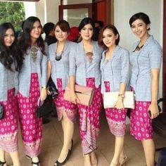 Ideas Wedding Quotes Dress Beautiful For 2019 Kebaya Brokat, Dress Brokat, Kebaya Dress, Batik Kebaya, Batik Dress, Batik Fashion, Hijab Fashion, Women's Fashion, Fashion Ideas