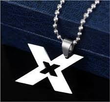 Image result for titanium X pendant necklace for men