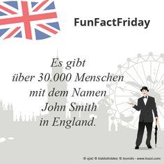 #FunFactFriday bei THE BRITISH SHOP: Es gibt über 30.000 Menschen mit dem Namen John Smith in England.
