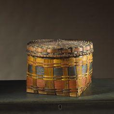 Covered Storage Basket   Olde Hope Antiques
