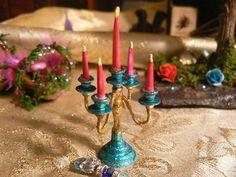 Enchanting Magickal Miniature Candelabra  by EnchantedFairyDreams, $15.00