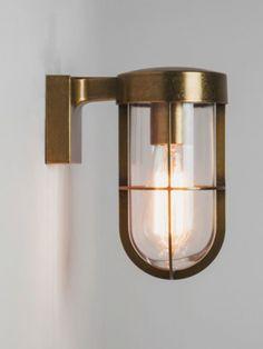 Antique brass cabin wall light £157.97 Chantelle ex vat