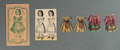 "Paper Dolls, 1790-1940 - The Collection of Shirley Fischer: 54 American Envelope Paper Dolls ""Bessy & Kate"" by R.A. Hobbs"