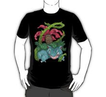 Venusaur from Nintendo's Pokemon ~ available on shirts, bags, cases, prints, and more ☆       anime shirts / manga shirts / anime drawing / manga drawing / kawaii / otaku / weeaboo / fandom / anime clothes / manga clothes / stickers / phone case / shonen / shoujo / japanese / japan / nintendo / pokemon / wiiu / 3ds / gameboy / bulbasaur / ivysaur / venusaur / grass type / razor leaf / vine whip / hyperbeam / grass knot / starter pokemon / evolutions