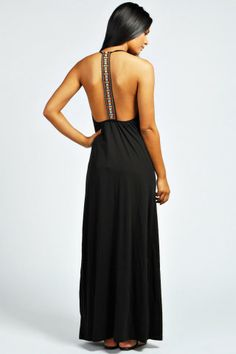 Frankie Embroidered Back Maxi Dress - StackDealz